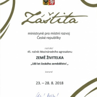 Záštita ministryně pro místní rozvoj