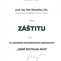 Záštita rektora České zemědělské univerzity