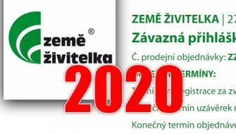 SPUŠTĚNY PŘIHLÁŠKY NA ZEMĚ ŽIVITELKU 2020
